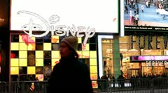 Disney Store front in New York City Stock Footage