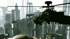 Apaches in City 01 day Stock Footage