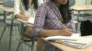 Stock Video Footage of Junior hight students writing in class (6 of 6)