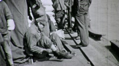 Day Laborers Dock Workers Men Poor New Orleans 1930s Vintage Film Archival 1648 Stock Footage