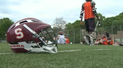 Boys Lacrosse team at practice (1 of 4) - stock footage