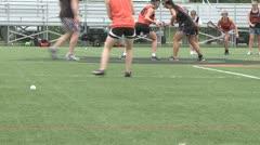 Girls Lacrosse team practicing (3 of 3) Stock Footage