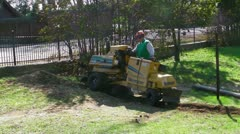 Landscaping machine Stock Footage