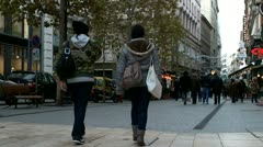 European City Busy Street  01 Stock Footage