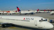 Stock Video Footage of Busy day at Atlanta Airport