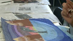 Junior high students working in art class (6 of 9) - stock footage