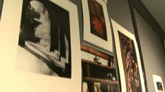 Pictures being displayed in school entryway  (2 of 4) - stock footage