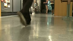 Grammar school student walking down the hall (1 of 3) - stock footage