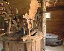 Old mill equipment. Breadstuffs making technology. Stock Footage