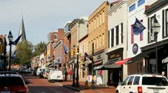 Main Street Annapolis Stock Footage