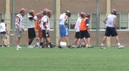 Stock Video Footage of Goys Lacrosse team exercising