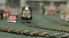 Toy Trains Rack Focus Stock Footage