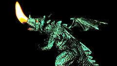 Dragon strike terror and fear. Stock Footage