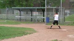 High school boys at baseball practice (3 of 5) - stock footage