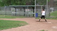 High school boys at baseball practice (3 of 5) Stock Footage
