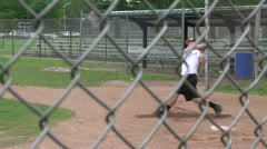 High school boys at baseball practice (1 of 5) - stock footage