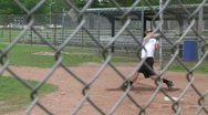 Stock Video Footage of High school boys at baseball practice (1 of 5)