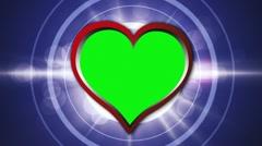 Hearts Speech Balloon 3, Green Screen,  Loop - HD1080  - stock footage