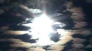 Very bright sun and clouds Stock Footage