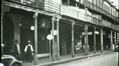 STREET SCENE GREAT DEPRESSION New Orleans 1930s Vintage Film Home Movie 1658 Stock Footage