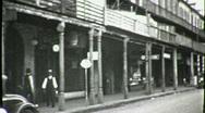 STREET SCENE GREAT DEPRESSION New Orleans 1930s Vintage Film Home Movie 1658 Stock Footage