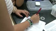 Students working on lab project (10 of 10 ) Stock Footage