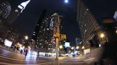 NYC Street corner time lapse Stock Footage