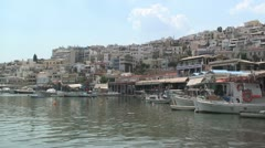 Microlimano (small harbor) in Pireaus, Greece Stock Footage