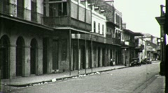 French Quarter GREAT DEPRESSION New Orleans 1930s Vintage Film Home Movie 1661 Stock Footage