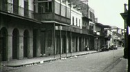 Stock Video Footage of STREET SCENE GREAT DEPRESSION New Orleans 1930s (Vintage Film Home Movie) 1661