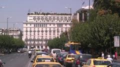 Hotel Grande Bretagne in Athens, Greece (Hotel Great Britain) Stock Footage