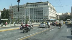 Hotel Grande Bretagne on Syntagma Square in Athens, Greece Stock Footage