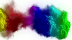 Rainbow explosion Stock Footage