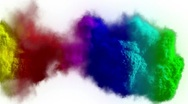 Rainbow explosion Stock Footage