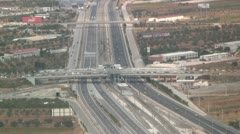 Aerial of the National Road or Highway near the airport of Athens, Greece Stock Footage
