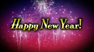 Stock Video Footage of Happy New Year Animation 2363