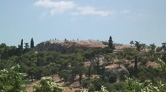 Areopagus Hill (Biblical: Mars Hill) in Athens, Greece Stock Footage