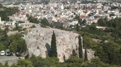 The Areopagus (Biblical: Mars Hill) in Athens, Greece Stock Footage