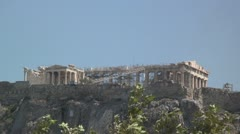 The Parthenon (and Erectheum) atop the Acropolis in Athens, Greece Stock Footage