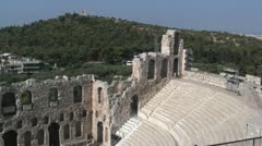 Theater (Odeon) of Herodes Atticus at the Acropolis in Athens, Greece - stock footage