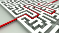 Success concept in maze Stock Footage