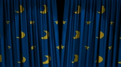 Star Curtains Stock Footage