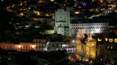 Guanajuato by night - stock footage