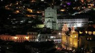 Stock Video Footage of Guanajuato by night