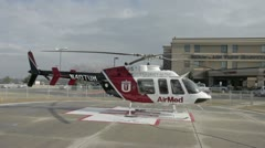 Helicopter AirMed at Emergency Hospital P HD 8521 Stock Footage