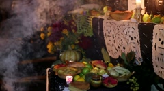 Day of The Dead Altar - stock footage