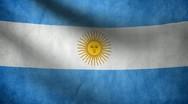 Argentine flag. Stock Footage
