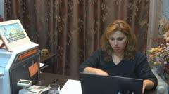 Secretary working in office Stock Footage