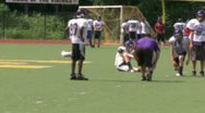 Stock Video Footage of High school football team at practice  (3 of 11)