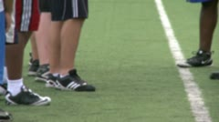 High school Football team at practice (10 of 12) Stock Footage